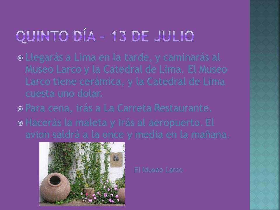 Quinto Día – 13 de julio