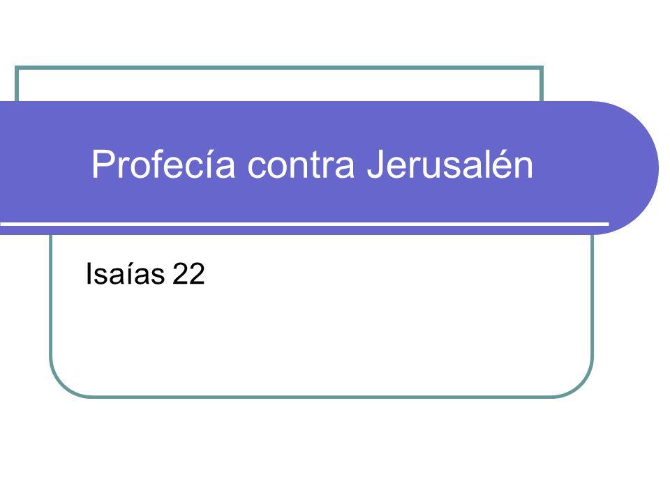 Profecía contra Jerusalén