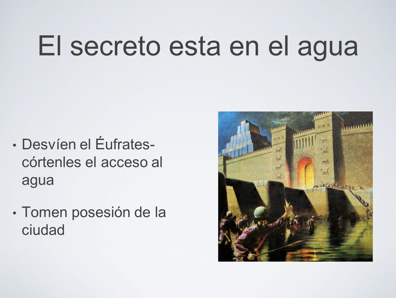 El secreto esta en el agua