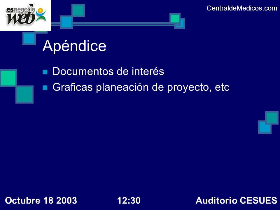 Apéndice Documentos de interés Graficas planeación de proyecto, etc
