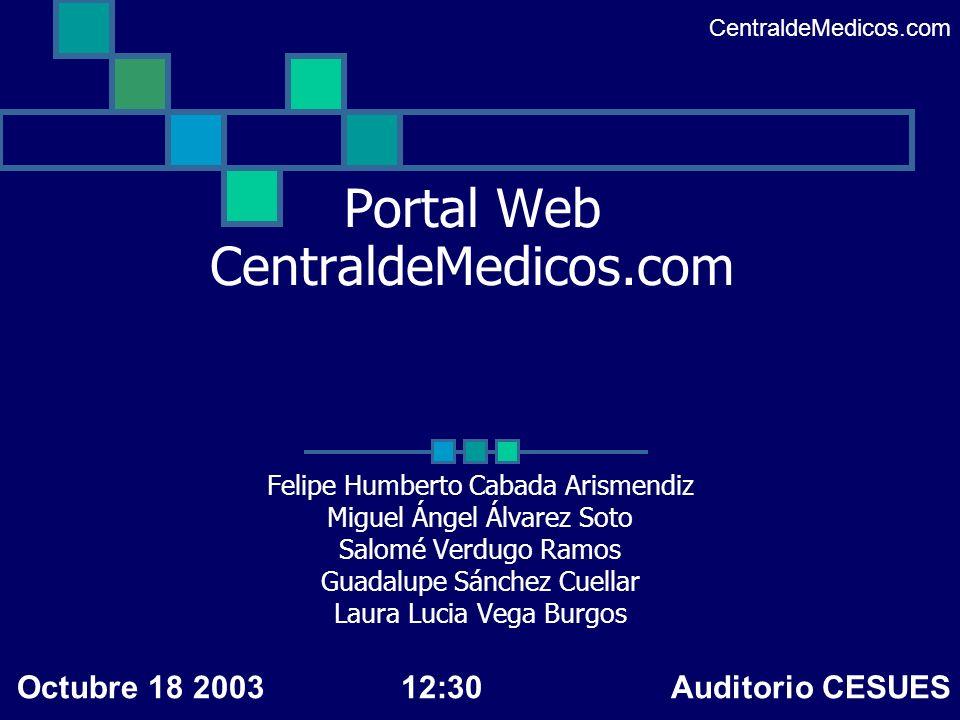 Portal Web CentraldeMedicos.com