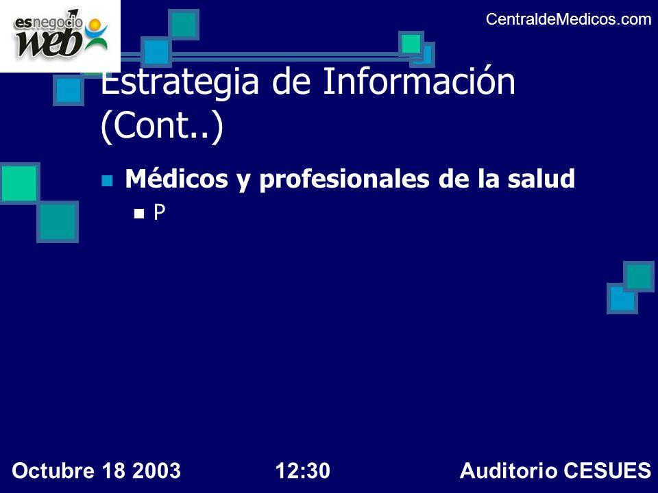 Estrategia de Información (Cont..)