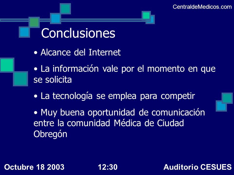 Conclusiones Alcance del Internet