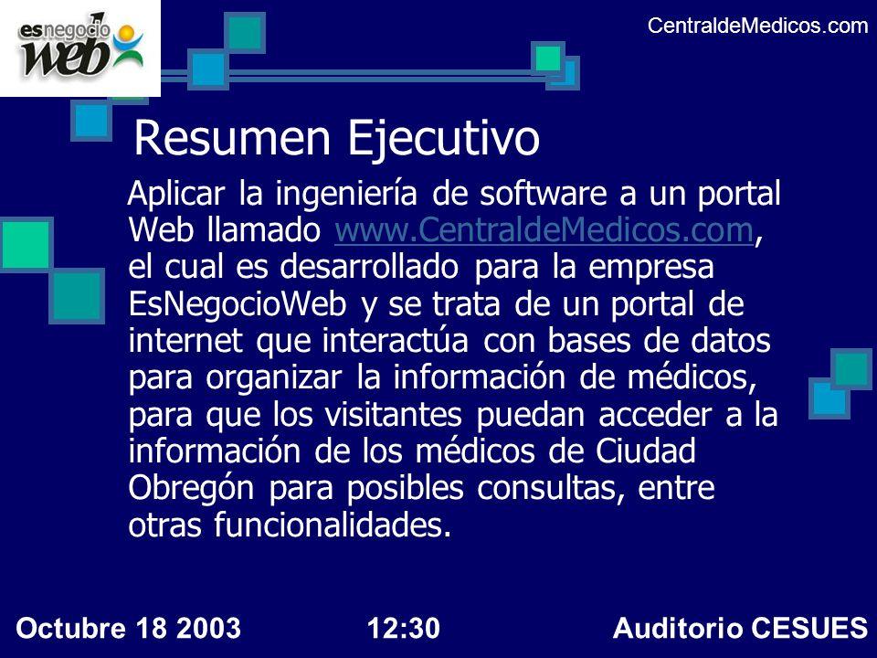 CentraldeMedicos.comResumen Ejecutivo.
