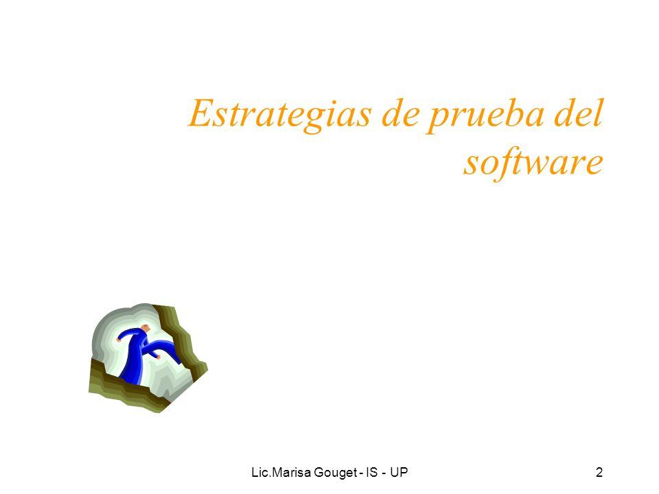 Estrategias de prueba del software