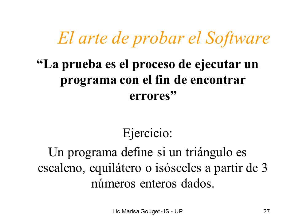 El arte de probar el Software