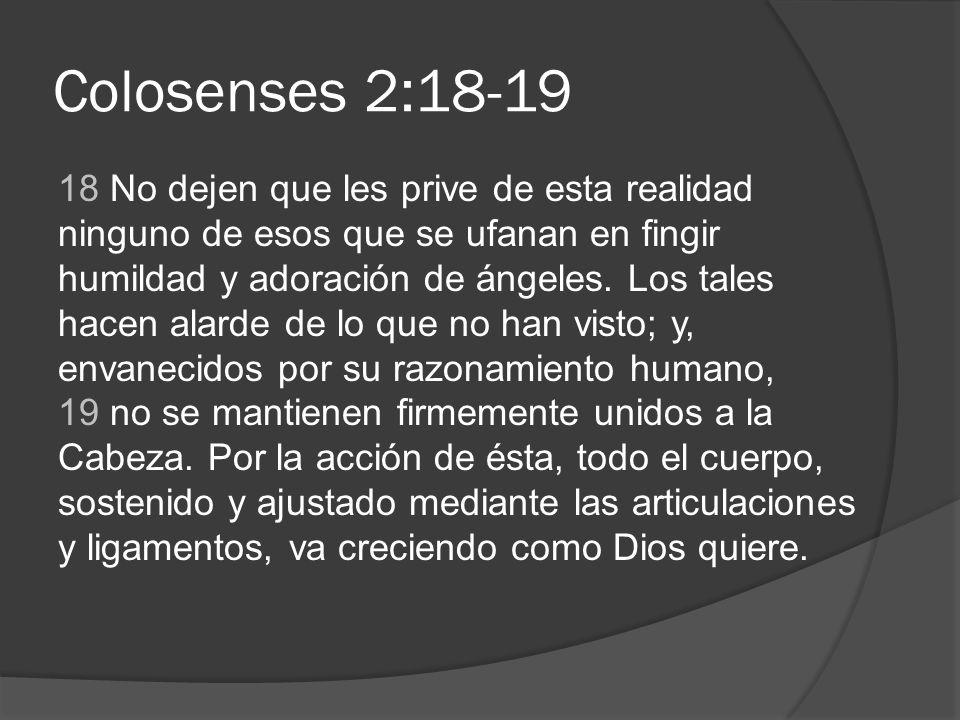 Colosenses 2:18-19