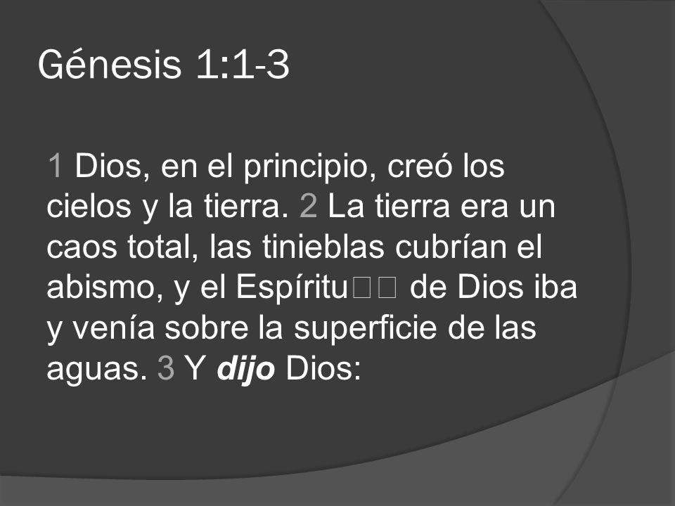 Génesis 1:1-3
