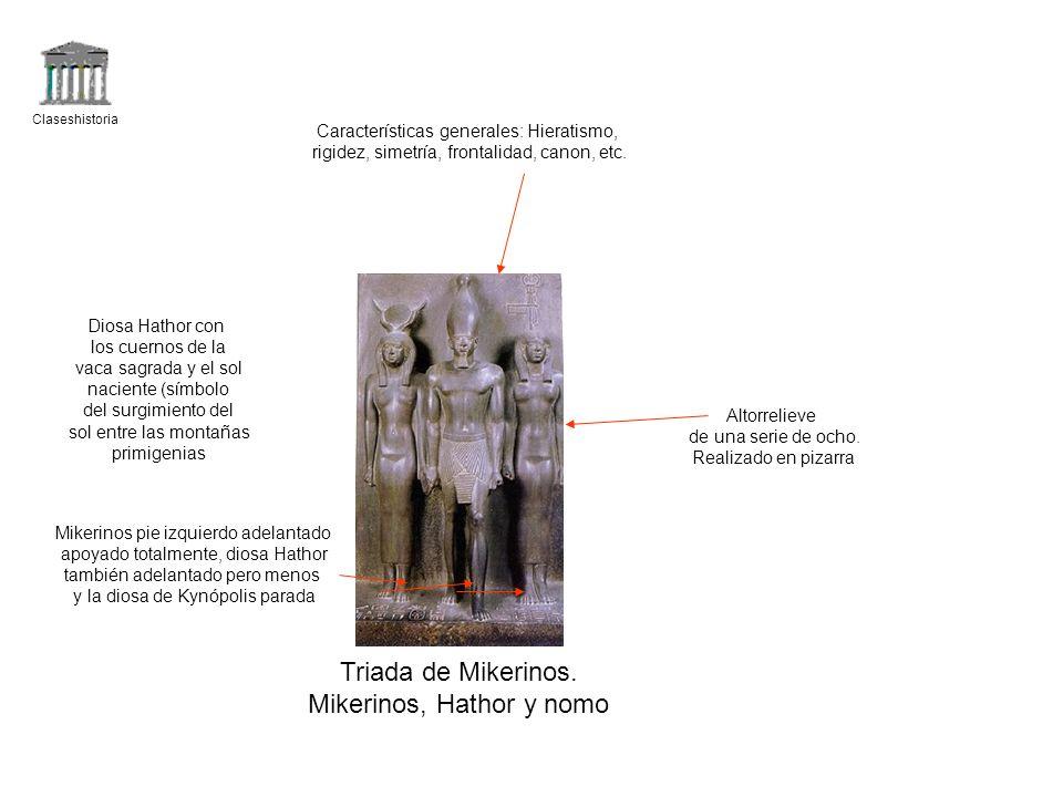 Mikerinos, Hathor y nomo