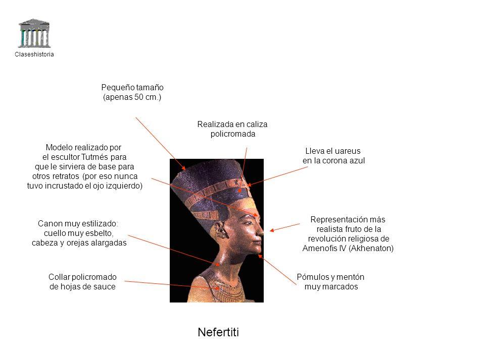 Nefertiti Pequeño tamaño (apenas 50 cm.) Realizada en caliza