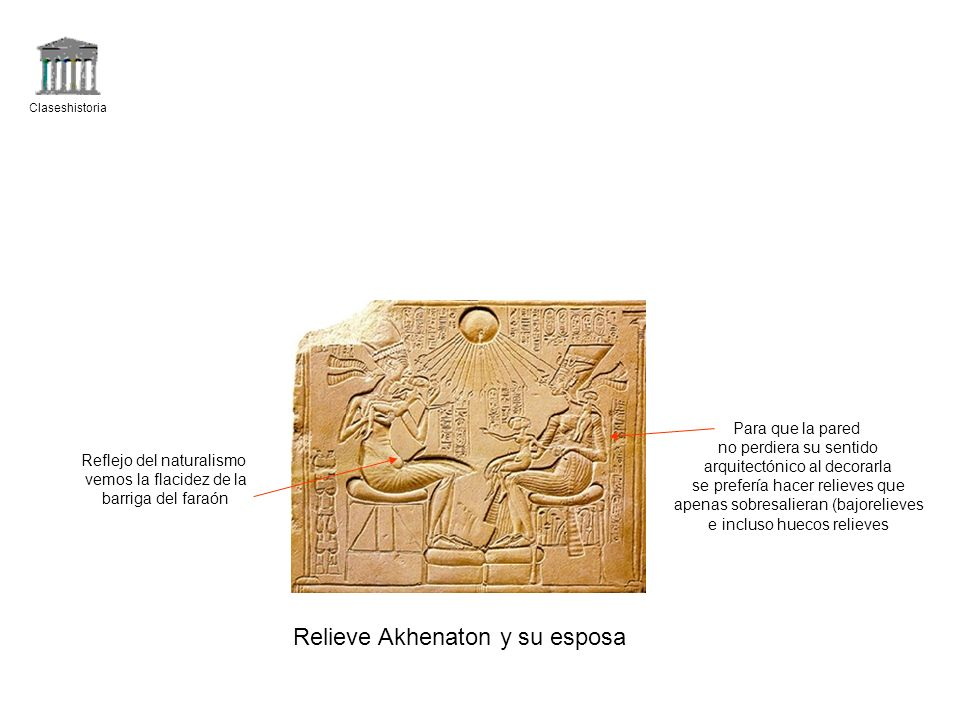 Relieve Akhenaton y su esposa