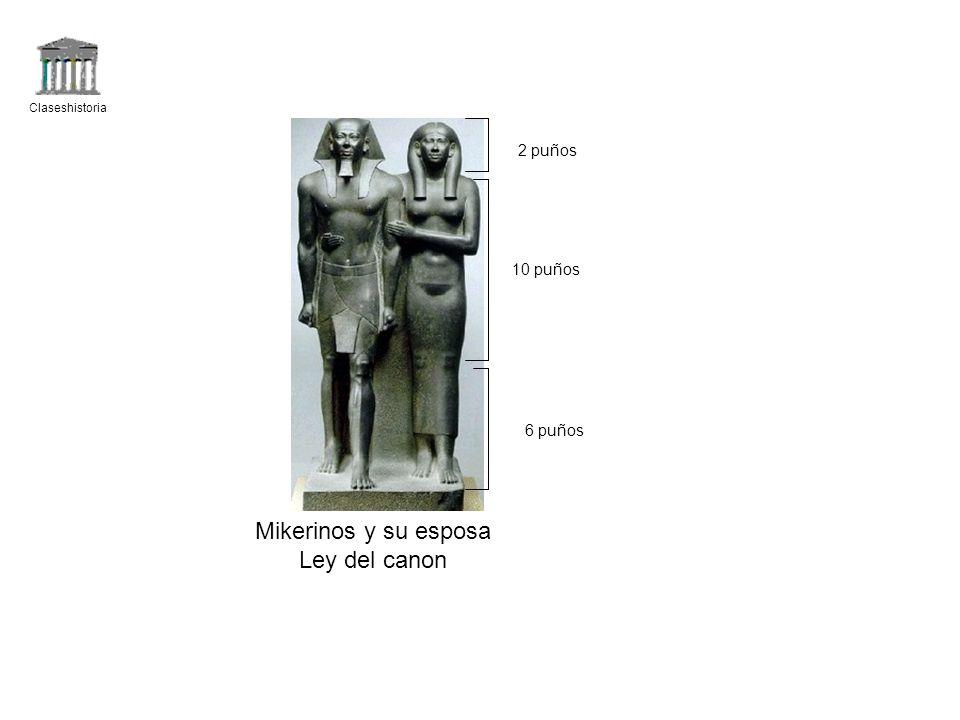 Mikerinos y su esposa Ley del canon 2 puños 10 puños 6 puños