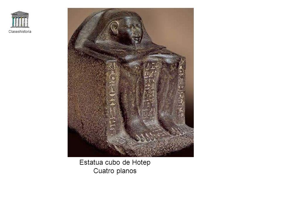 Claseshistoria Estatua cubo de Hotep Cuatro planos