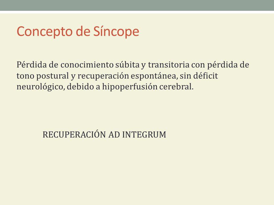 Concepto de Síncope