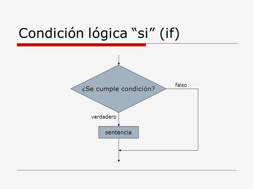 Condición lógica si (if)
