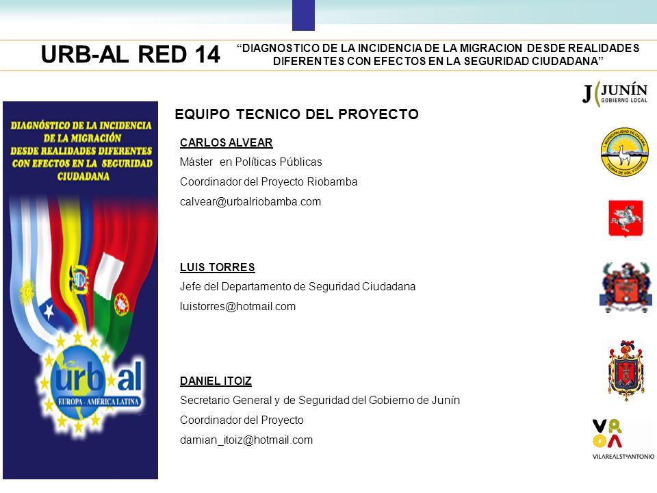 URB-AL RED 14 EQUIPO TECNICO DEL PROYECTO