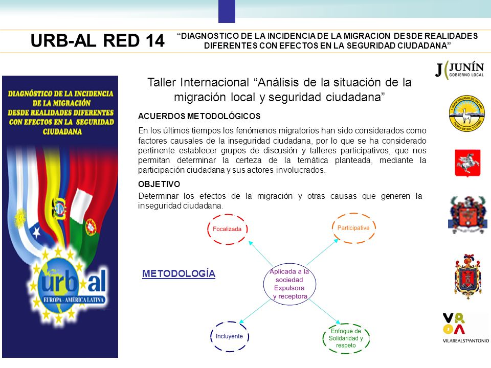 URB-AL RED 14 DIAGNOSTICO DE LA INCIDENCIA DE LA MIGRACION DESDE REALIDADES DIFERENTES CON EFECTOS EN LA SEGURIDAD CIUDADANA