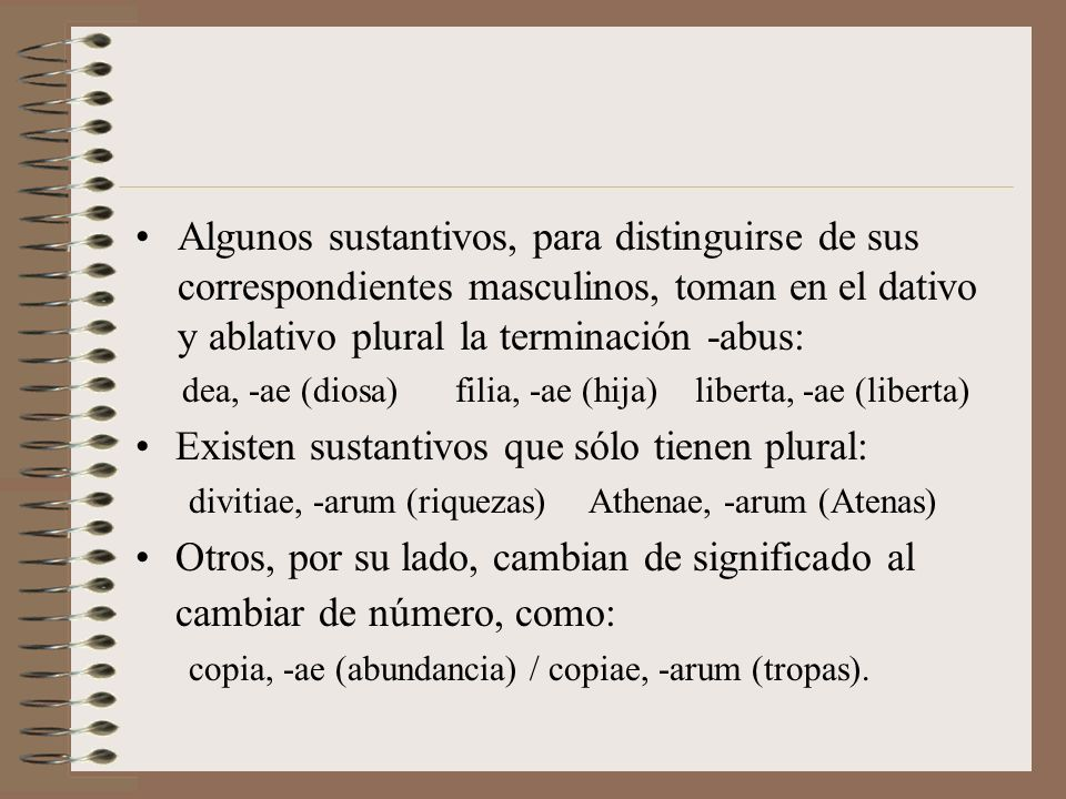 Existen sustantivos que sólo tienen plural: