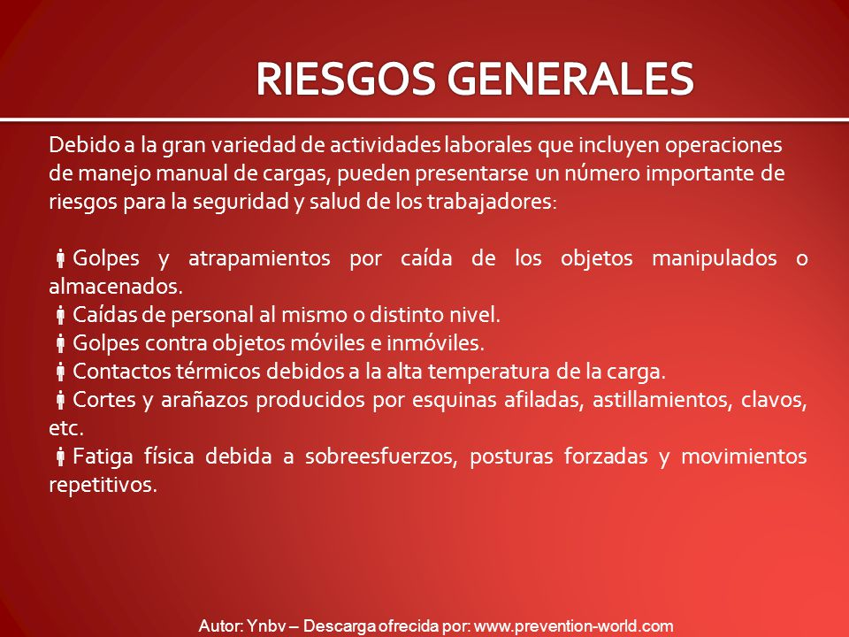 RIESGOS GENERALES