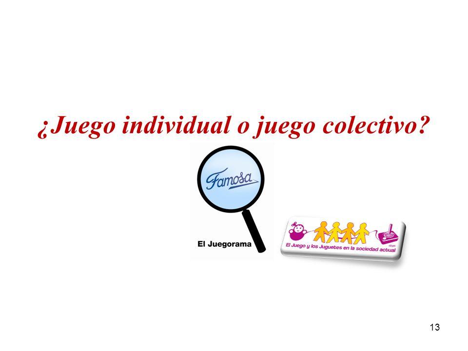 ¿Juego individual o juego colectivo