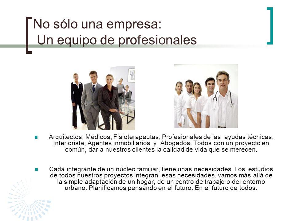 No sólo una empresa: Un equipo de profesionales
