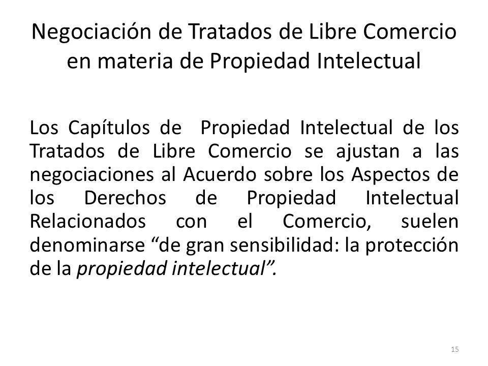 Negociación de Tratados de Libre Comercio en materia de Propiedad Intelectual