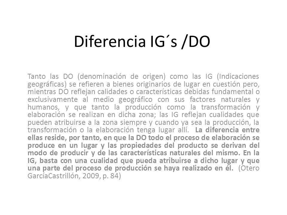 Diferencia IG´s /DO