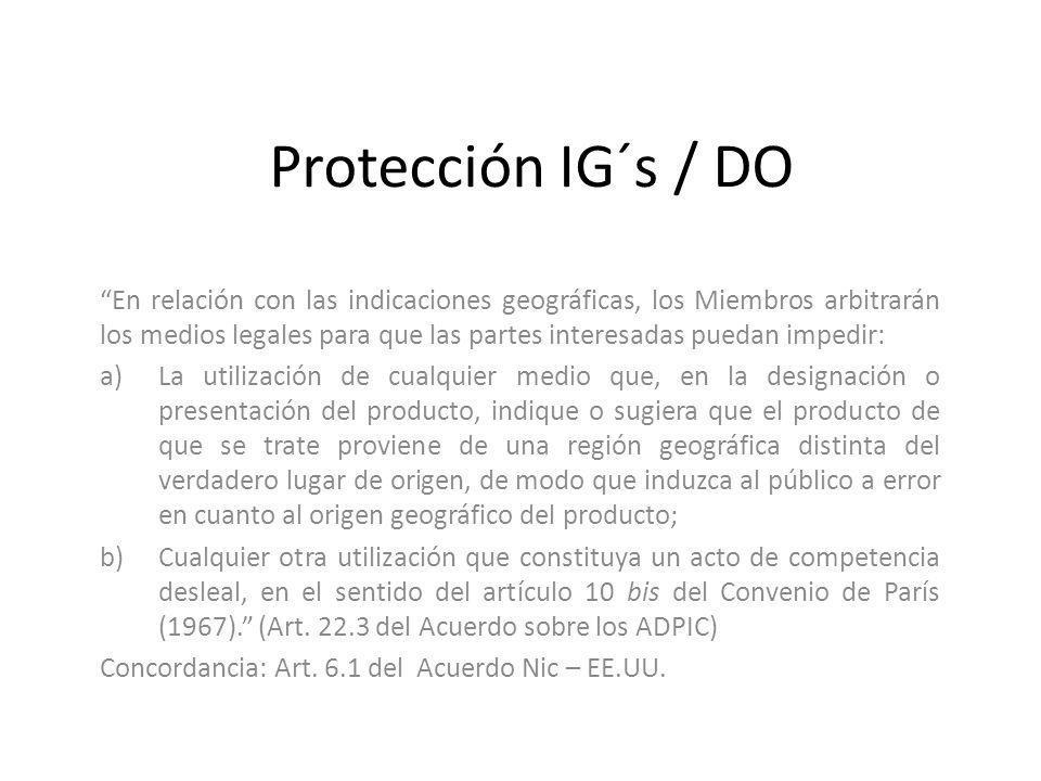 Protección IG´s / DO
