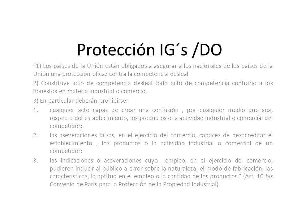Protección IG´s /DO