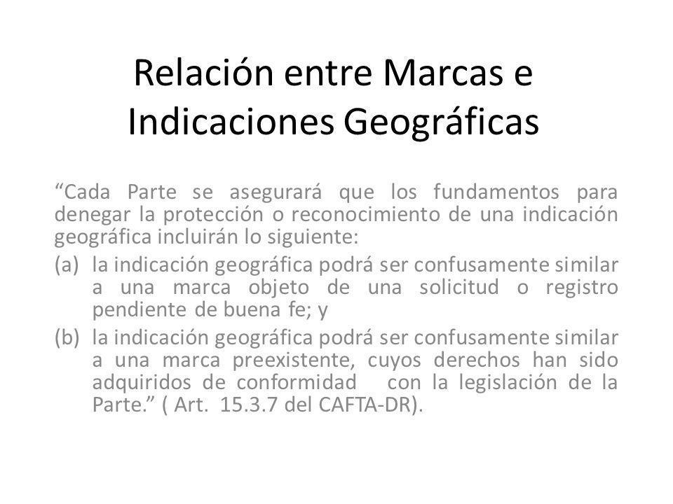 Relación entre Marcas e Indicaciones Geográficas