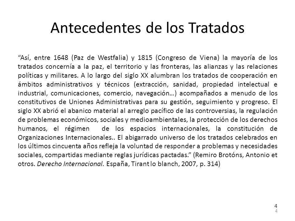 Antecedentes de los Tratados