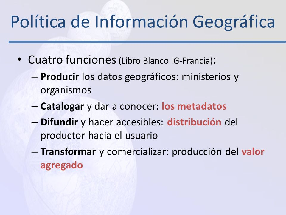 Política de Información Geográfica