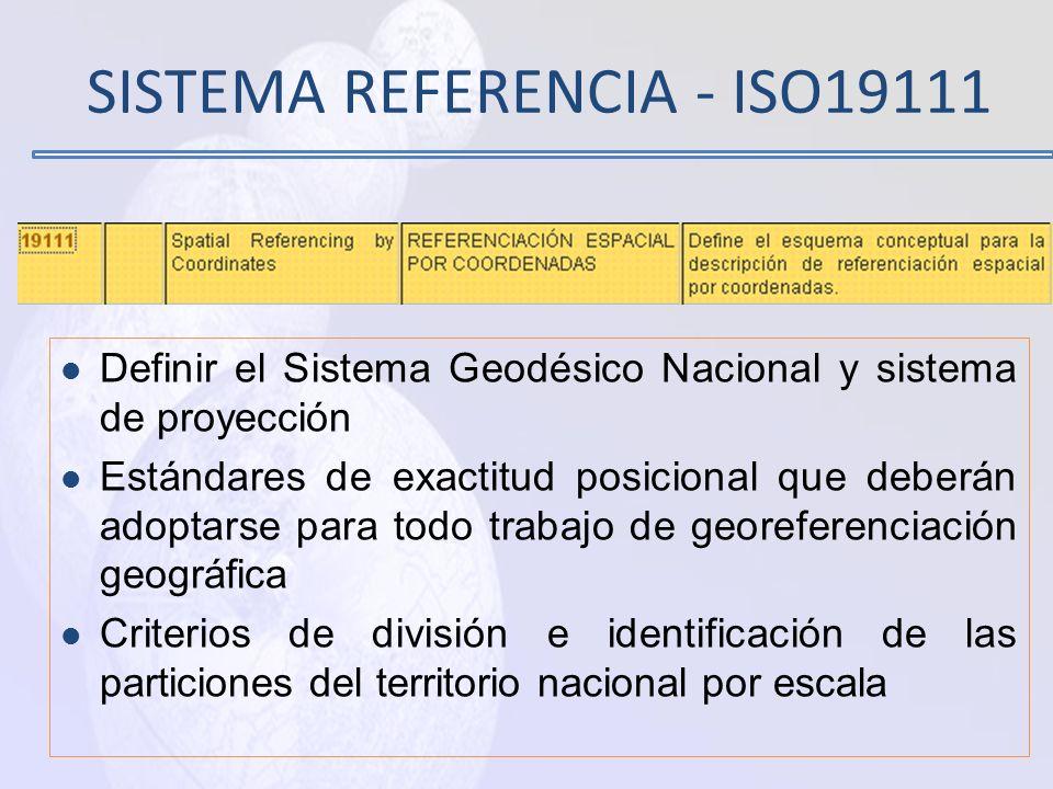 SISTEMA REFERENCIA - ISO19111