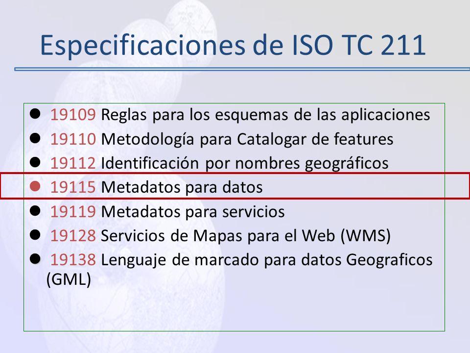 Especificaciones de ISO TC 211