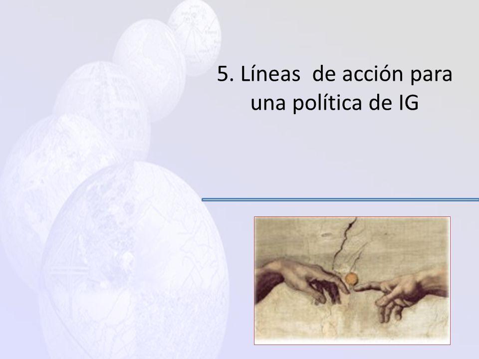 5. Líneas de acción para una política de IG