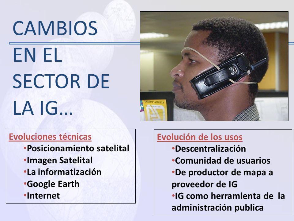 CAMBIOS EN EL SECTOR DE LA IG…