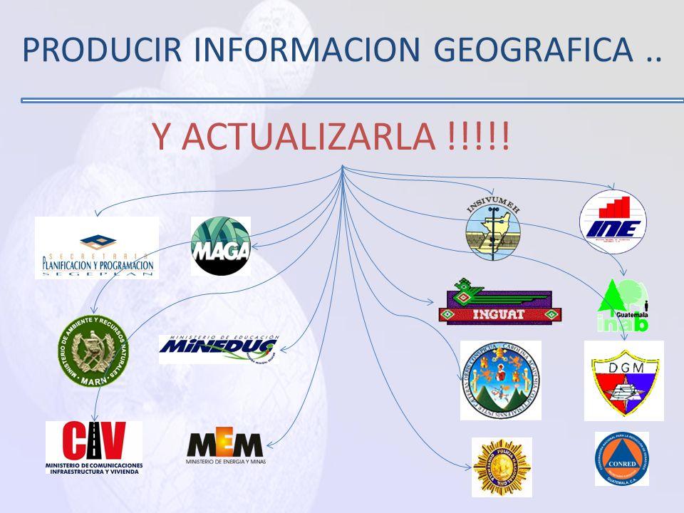 PRODUCIR INFORMACION GEOGRAFICA ..