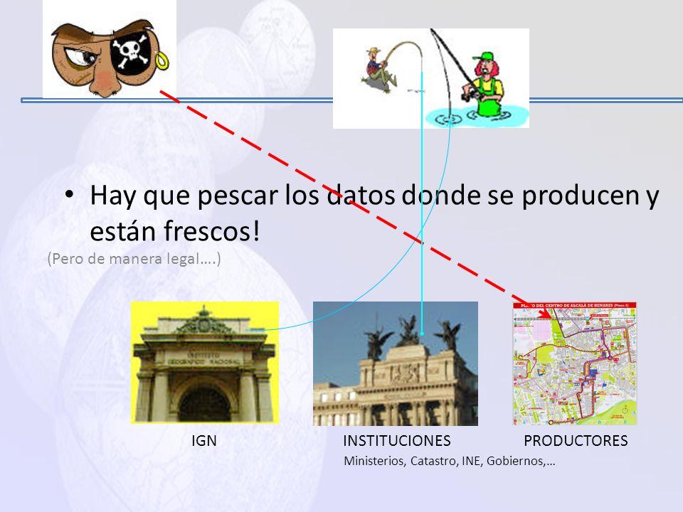 Ministerios, Catastro, INE, Gobiernos,…