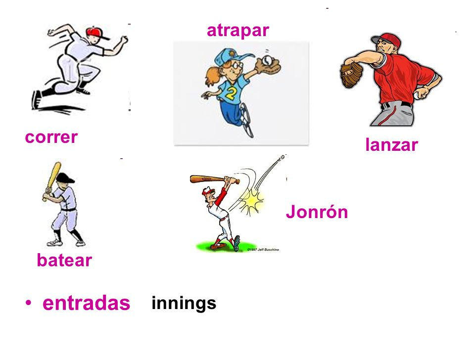 atrapar correr lanzar Jonrón batear entradas innings