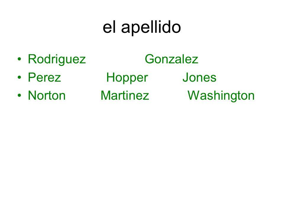 el apellido Rodriguez Gonzalez Perez Hopper Jones