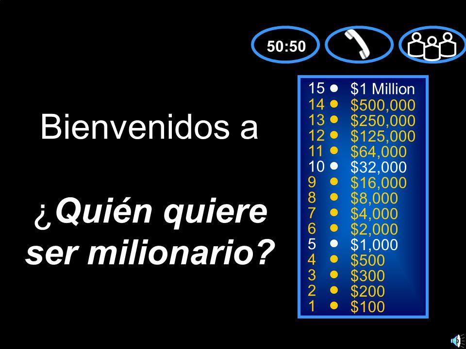 Bienvenidos a ¿Quién quiere ser milionario