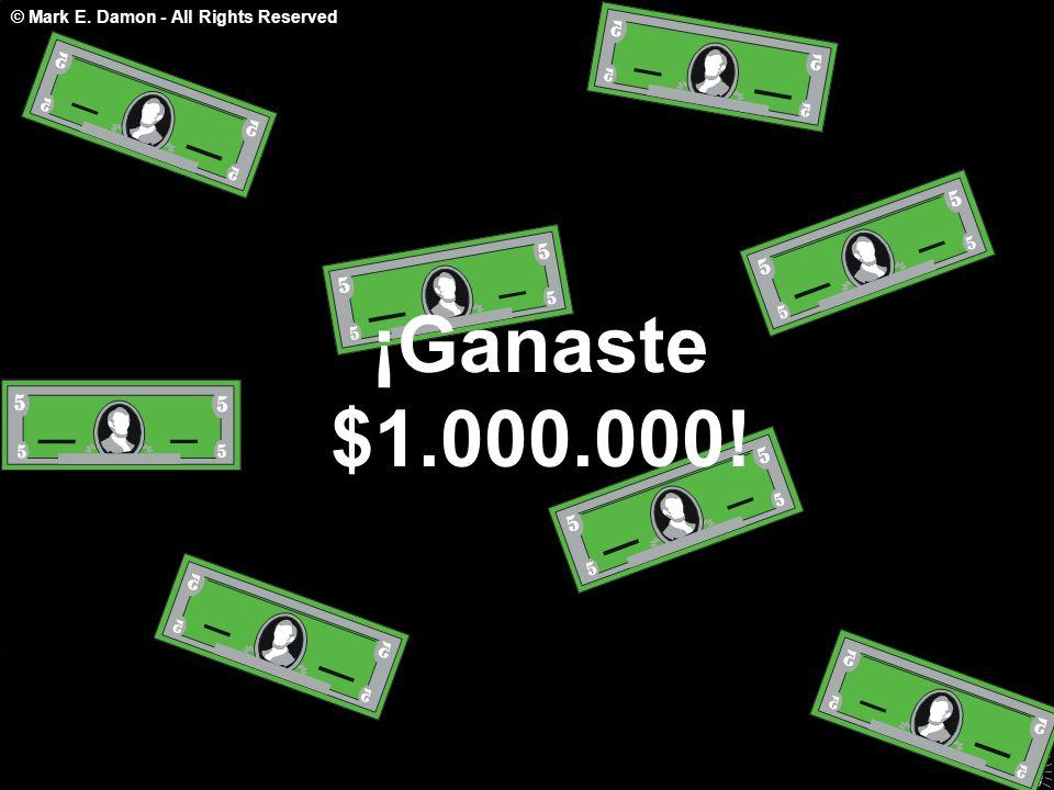 ¡Ganaste $1.000.000!