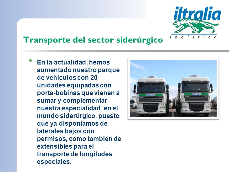 Transporte del sector siderúrgico