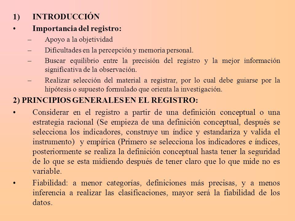 Importancia del registro: