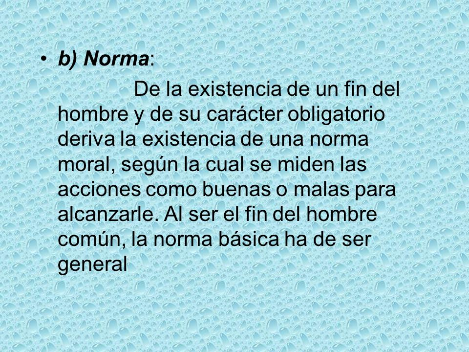 b) Norma: