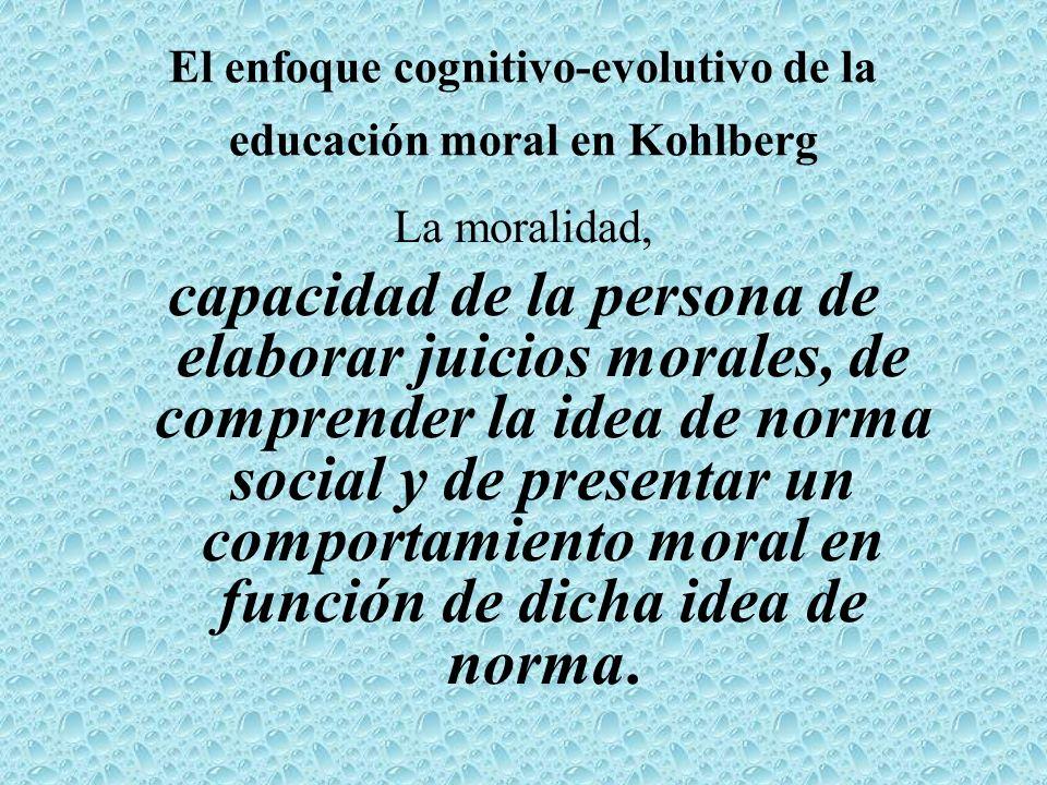 El enfoque cognitivo-evolutivo de la educación moral en Kohlberg
