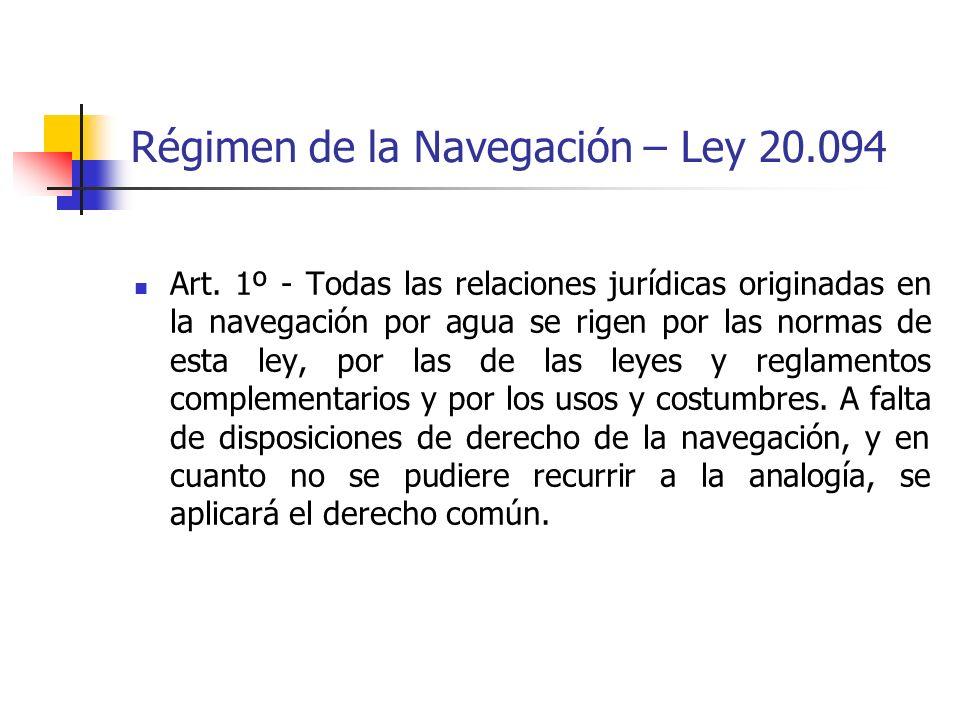 Régimen de la Navegación – Ley 20.094