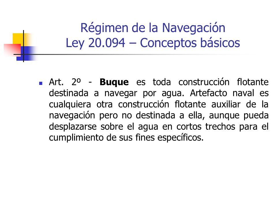 Régimen de la Navegación Ley 20.094 – Conceptos básicos