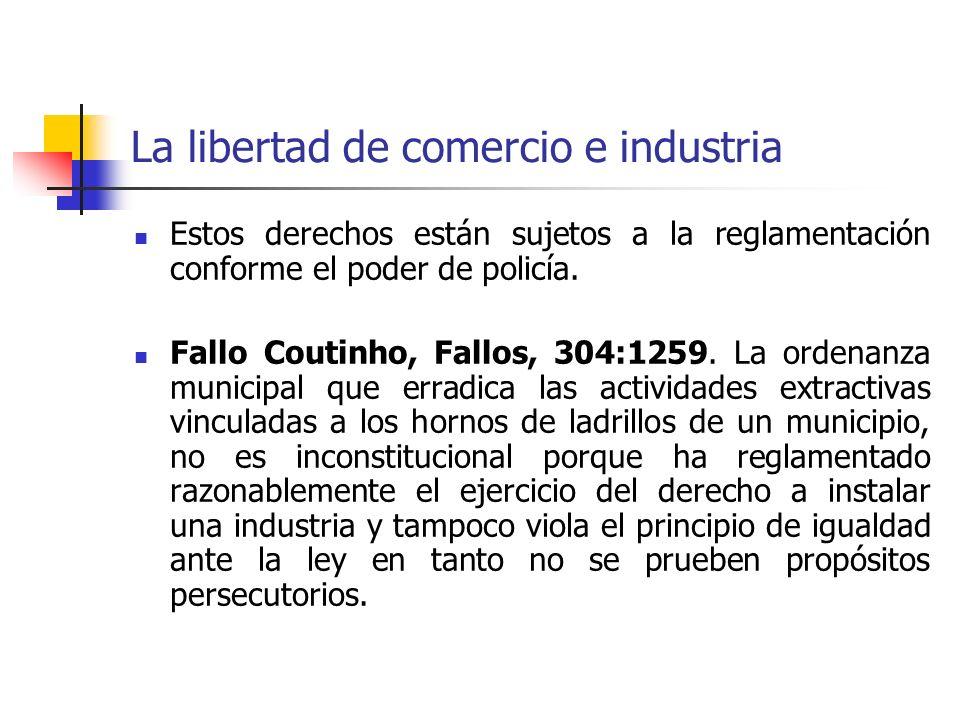 La libertad de comercio e industria