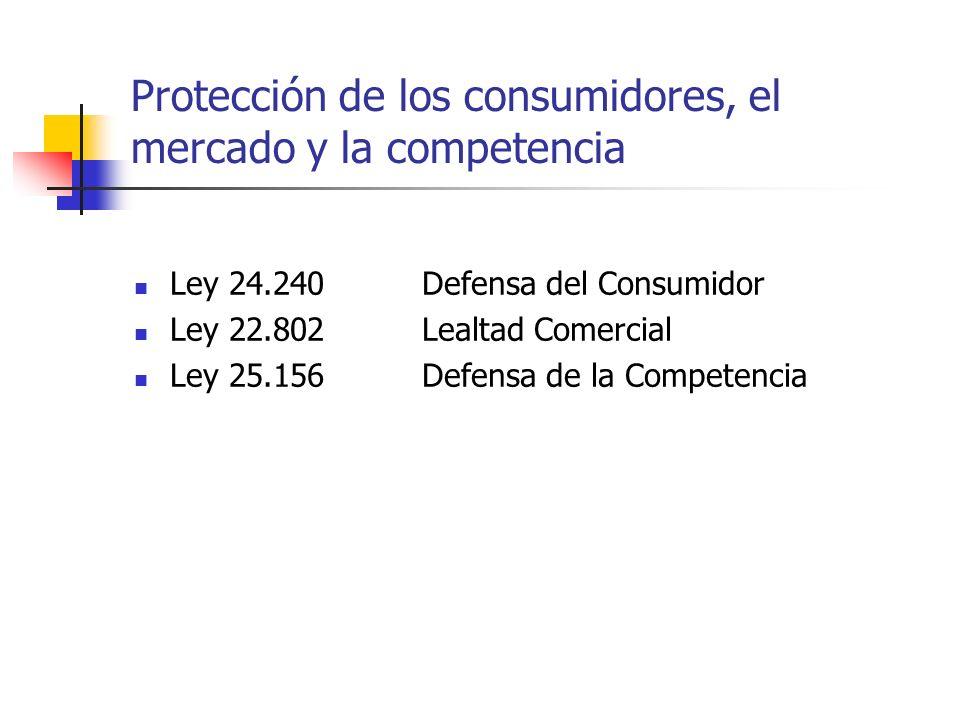 Protección de los consumidores, el mercado y la competencia